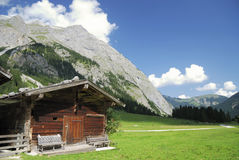 Tirolean hut Royalty Free Stock Images