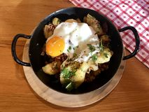 Tiroler Groestl, a traditional dish from Tirol, Austria Royalty Free Stock Photo