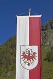 Tiroler Markierungsfahne Stockfotografie
