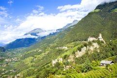 Tirolo Schloss Stockfoto