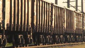 Tirones del tren del cargo almacen de metraje de vídeo