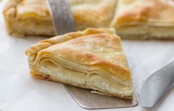 Tiropita - Greek pie made of Filo dough with cheese Stock Images