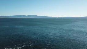 Tiros aéreos de Ensenada y del EL Sauzal, Baja California, México metrajes