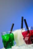 Tiros coloreados del hielo Imagen de archivo libre de regalías