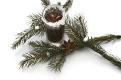 Tiros de la Navidad con la Navidad decoraciones el 14 de noviembre de 2014 Imagen de archivo