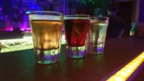 Tiros del alkohol del arco iris Imagen de archivo