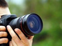 Tiros del fotógrafo foto de archivo libre de regalías