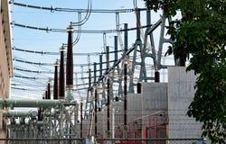 Tiros detalhados de uma central elétrica em Tailândia fotos de stock royalty free