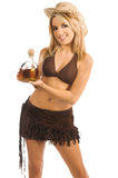 Tiros do Tequila do Cowgirl imagem de stock
