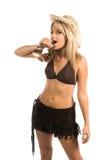 Tiros do Tequila do Cowgirl Fotografia de Stock