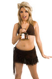 Tiros do Tequila do Cowgirl Imagens de Stock