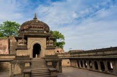 Tiros exteriores do forte Maheshwar de Ahilya fotografia de stock royalty free