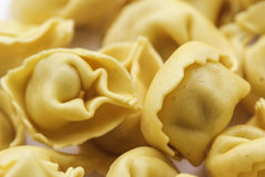 Tiros italianos do closup do Tortellini das bolinhas de massa imagem de stock royalty free