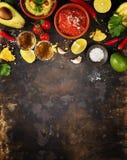 Tiros mexicanos do alimento e do tequila imagem de stock