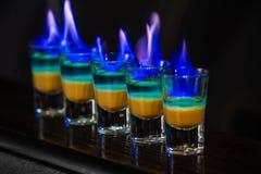 Tiros no clube noturno Foto de Stock
