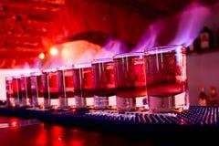 Tiros no fogo no clube Imagens de Stock Royalty Free