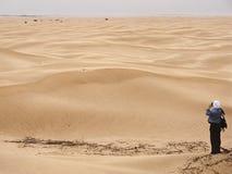 Tiroteo de foto en desierto Foto de archivo libre de regalías