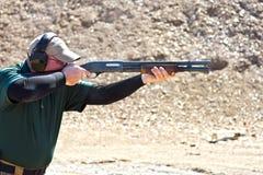 Tiroteo de la escopeta Imagen de archivo