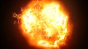 Tiroteo de la explosión de la bola de fuego con la cámara de alta velocidad, flexión fantasma Dots Circles abstracto colorido libre illustration