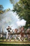 Tiroteo de la guerra civil Imagen de archivo libre de regalías