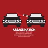Tiroteo del asesinato del coche stock de ilustración