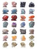 Tiroteo macro del espécimen mineral natural de la roca - diversa piedra Fotos de archivo
