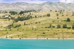 Tirquoise Klinje lake. Beautiful tirquoise lake Klinje, Bosnia and Herzegovina, with the mountains Stock Images