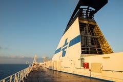 Tirrenia de bateau en août 2013 Photos libres de droits