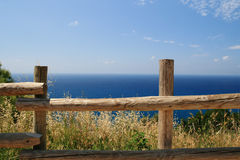 Tirrenian sea view. View of the tirrenian sea in populonia, small village near piombino Royalty Free Stock Photo