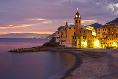Tirrenian Sunset in Italy Stock Images