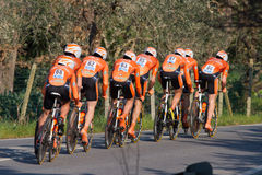 Tirreno Adriatico, first stage Royalty Free Stock Image