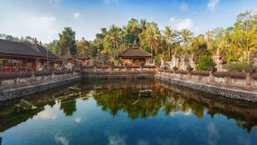 Tirta Emplu,巴厘岛,印度尼西亚 免版税库存照片