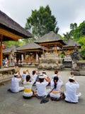 Tirta Empul寺庙,巴厘岛,印度尼西亚 免版税库存照片