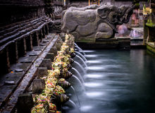 The tirta empul fountains in bali 2 Royalty Free Stock Image