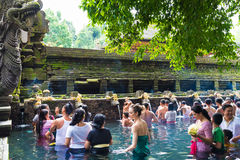 Tirta Empul Hindu Balinese temple with holy spring water in Bali, Indonesia Royalty Free Stock Image