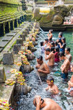 Tirta Empul Hindu Balinese temple with holy spring water in Bali, Indonesia Stock Photo