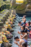 Tirta Empul Hindu Balinese temple with holy spring water in Bali, Indonesia Royalty Free Stock Photo
