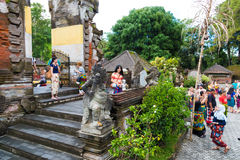 Tirta Empul Hindu Balinese temple with holy spring water in Bali, Indonesia Royalty Free Stock Photos