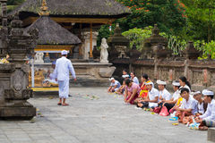 Tirta Empul Hindu Balinese temple with holy spring water in Bali, Indonesia Royalty Free Stock Images