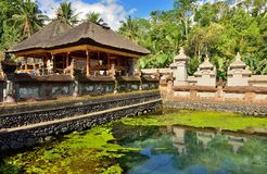 Tirta Empul temple in Bali Royalty Free Stock Photography
