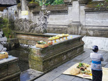 Tirta Empul temple, Bali, Indonesia. Holy spring water in Tirta Empul temple, Bali, Indonesia Stock Image