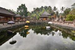 The holy pond. Tirta Empul. Tampaksiring. Gianyar regency. Bali. Indonesia royalty free stock photography