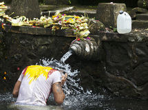 Tirta Empul temple - sacred bathing - Bali - Indonesia Stock Photos