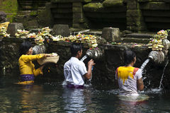 Tirta Empul temple - sacred bathing - Bali - Indonesia Stock Images