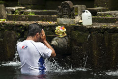 Tirta Empul temple - sacred bathing - Bali - Indonesia Royalty Free Stock Images