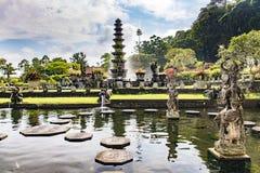 Tirta Gangga水宫殿巴厘岛,印度尼西亚 库存图片
