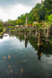 Tirta Gangga水宫殿在东部巴厘岛, Karangasem,印度尼西亚 免版税图库摄影