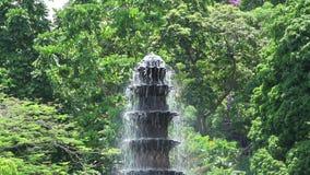 Tirta Gangga fountain stock footage