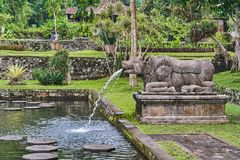 Tirta Gangga wody pałac na Bali wyspie Obrazy Royalty Free