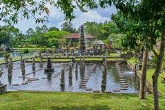 Tirta Gangga wody pałac na Bali wyspie Zdjęcia Stock
